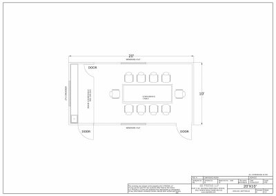 20' X 10' CONFRENCE ROOM