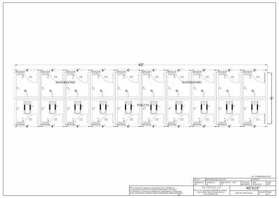 40' X 10' PUBLIC TOILET BATHRROM